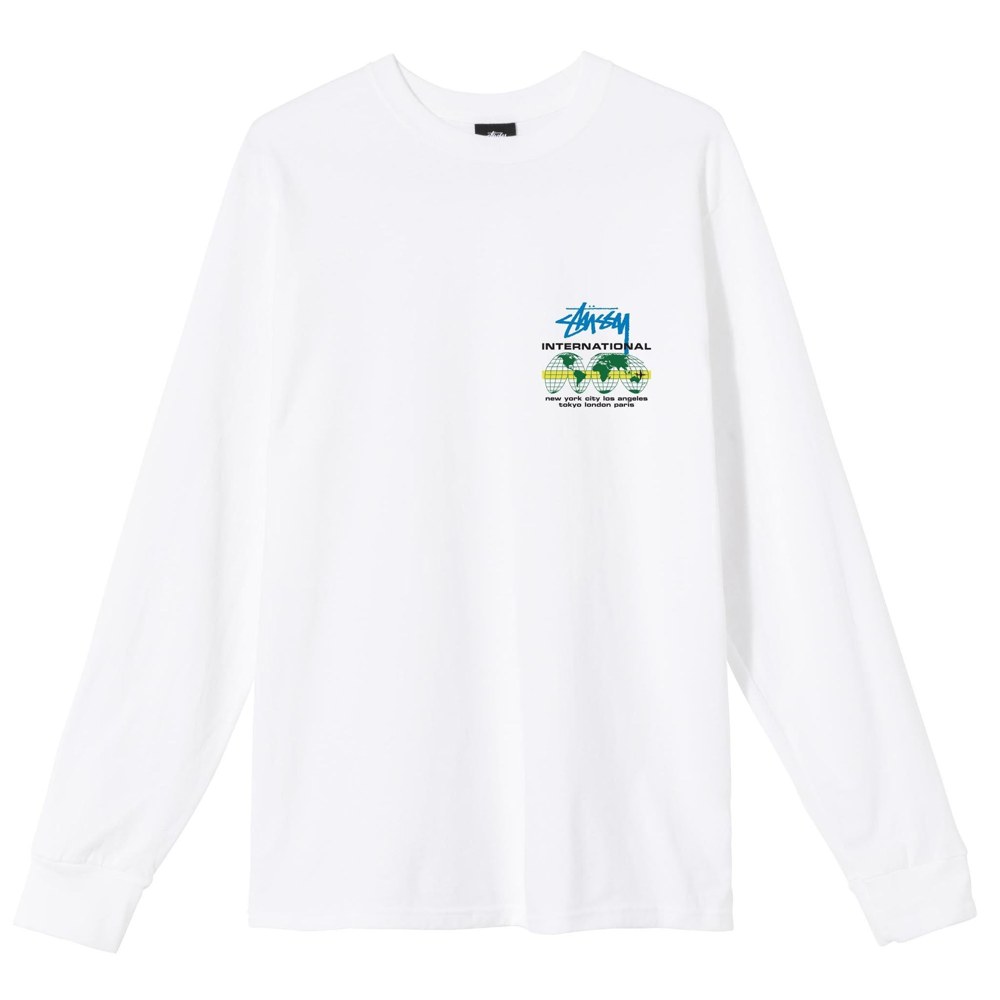 Stussy International Long Sleeve Tee White