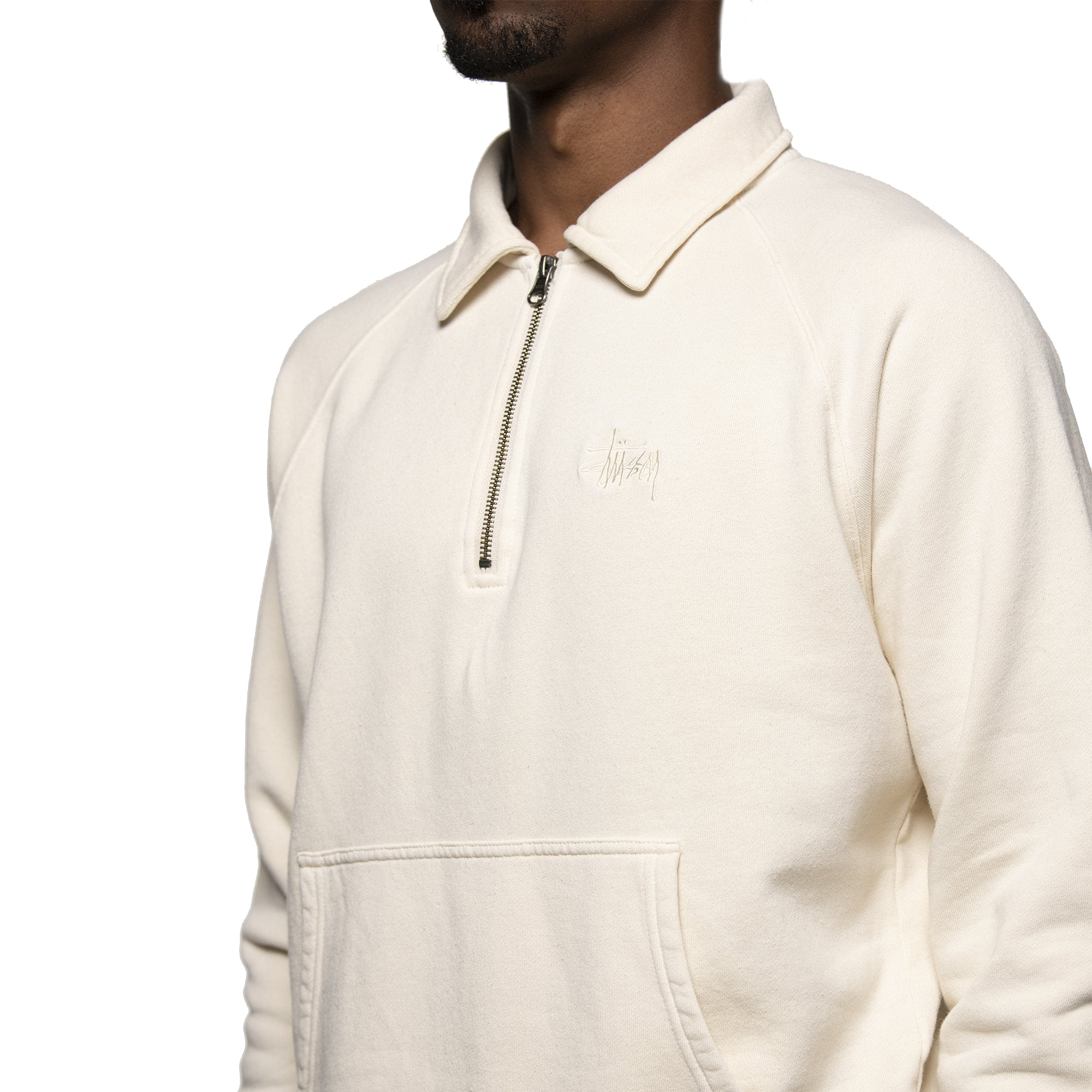 Stussy Polo Zip Fleece Beige