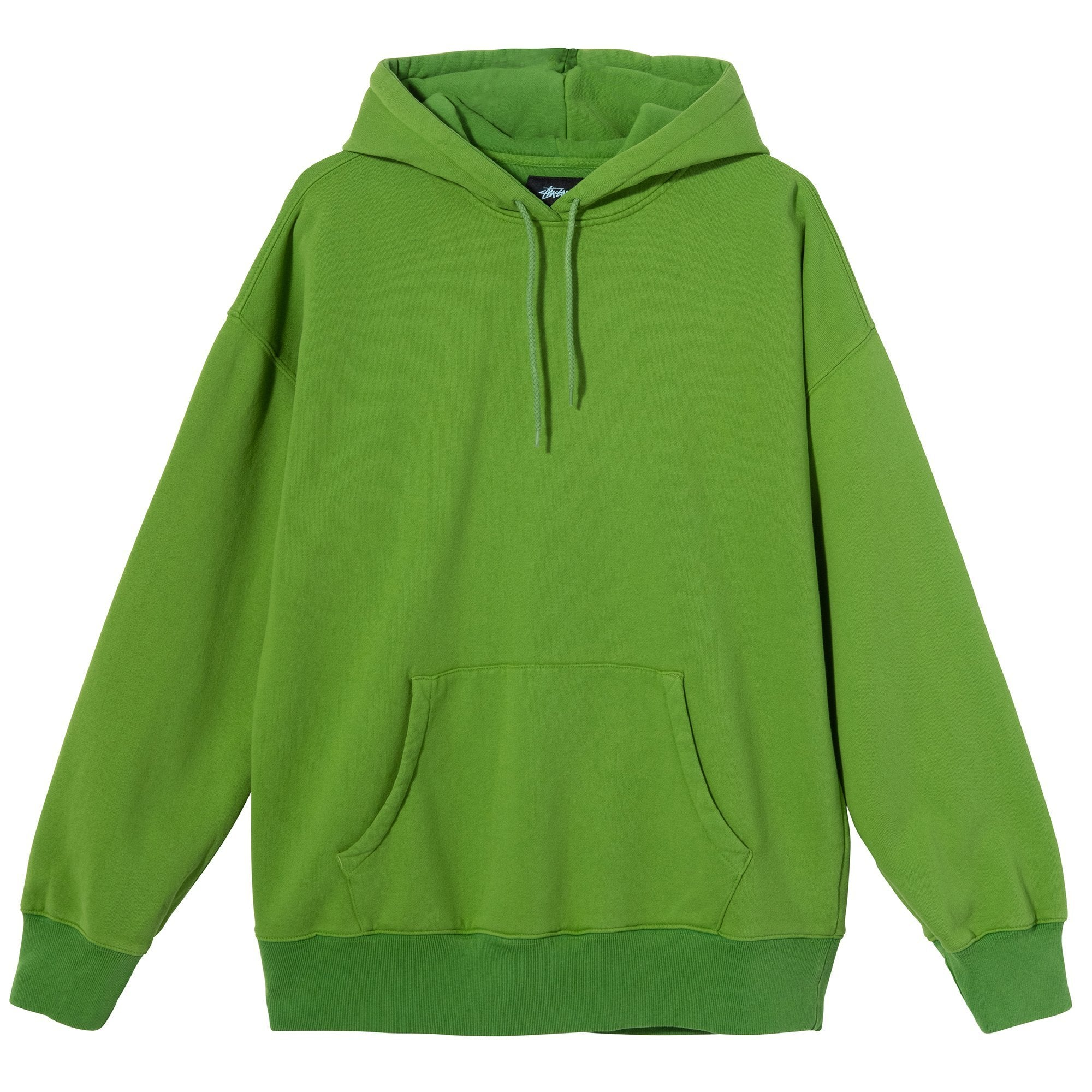 Stussy Slant Fleece Hood Green
