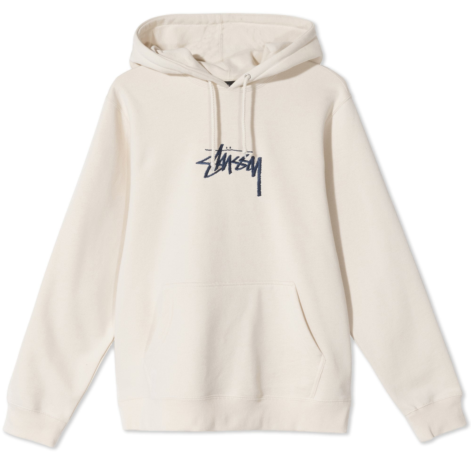 Stussy Stock Logo Applique Hoodie Cement