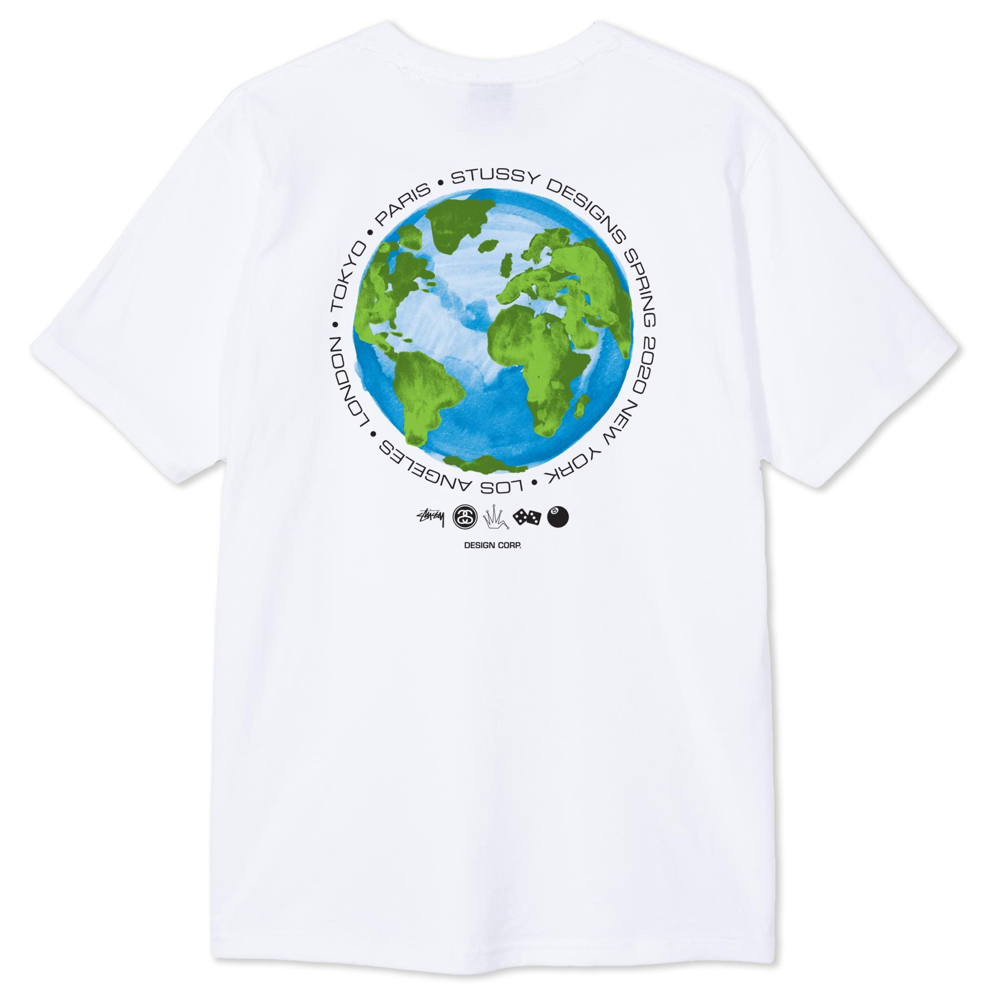 Stussy Global Design Corporation Tee White