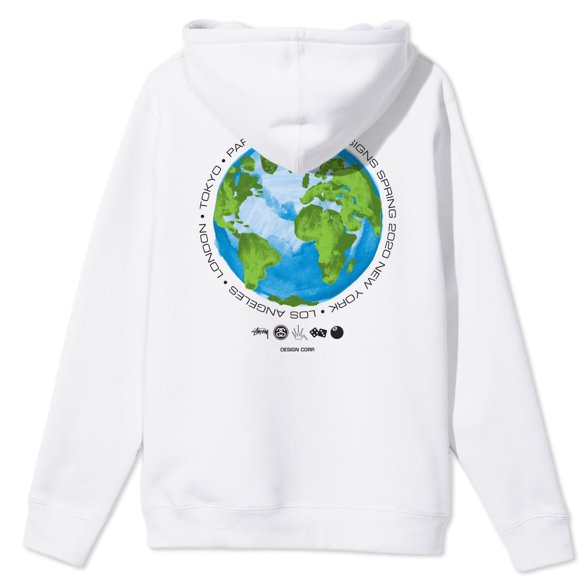 Stussy Global Design Corporation Hoodie White