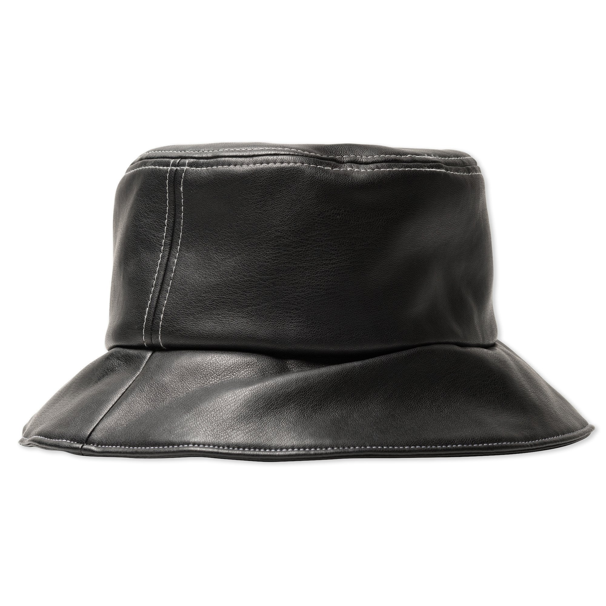 Stussy PU Contrast Stitch Bucket Hat Black