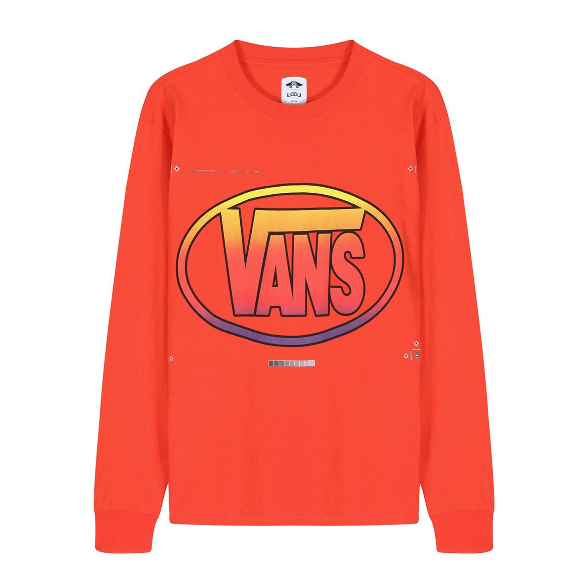 Vans Vault x LQQK Studio Long Sleeve Tee Bright Orange