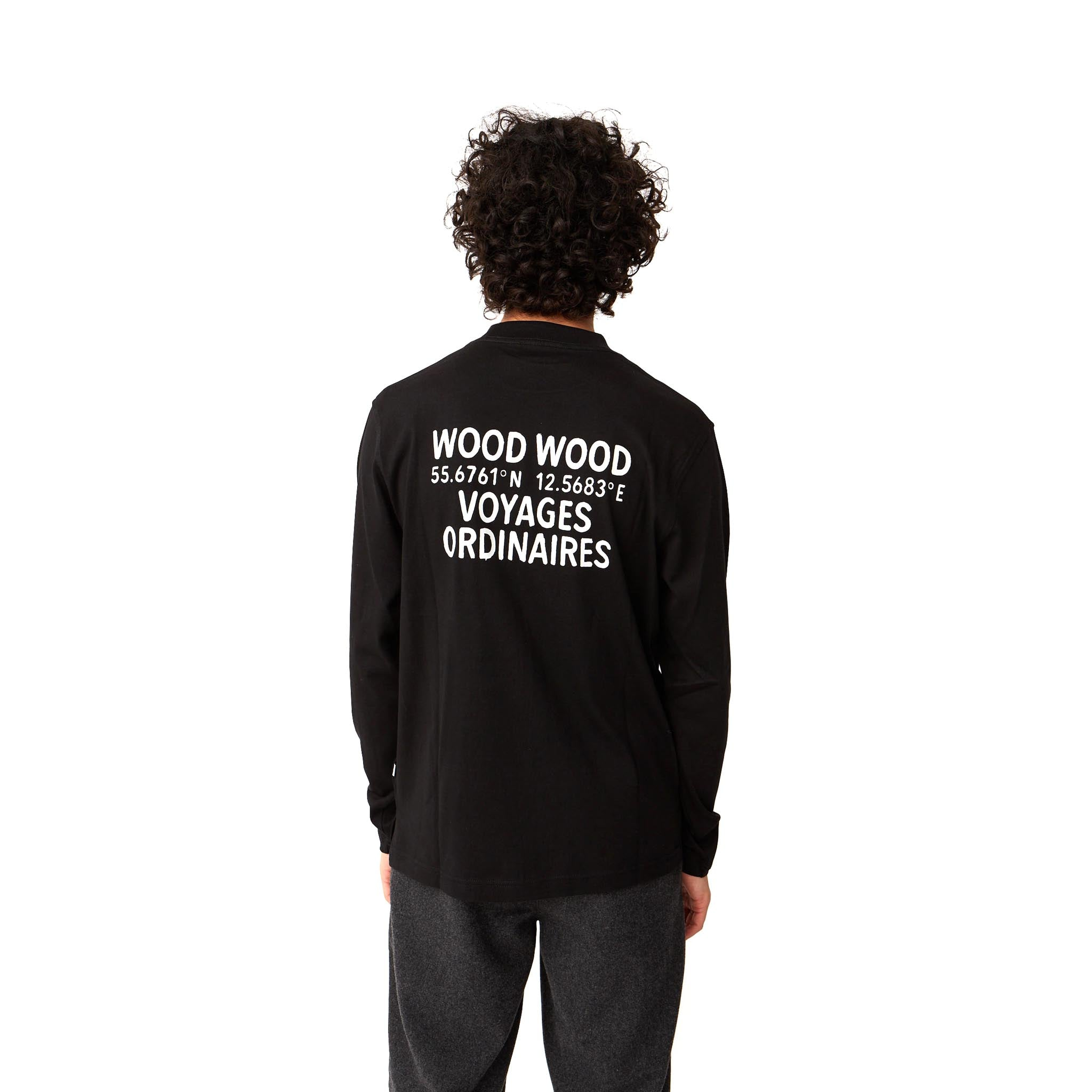 Wood Wood Anakin Long Sleeve Tee Black