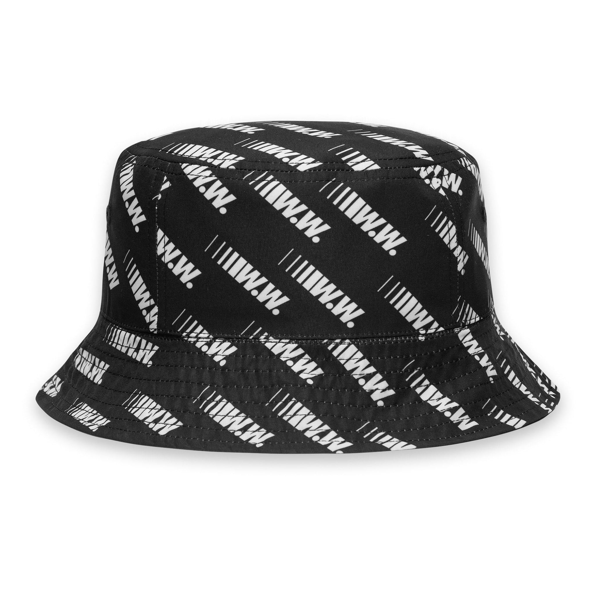Wood Wood Bucket Hat Black All Over Print