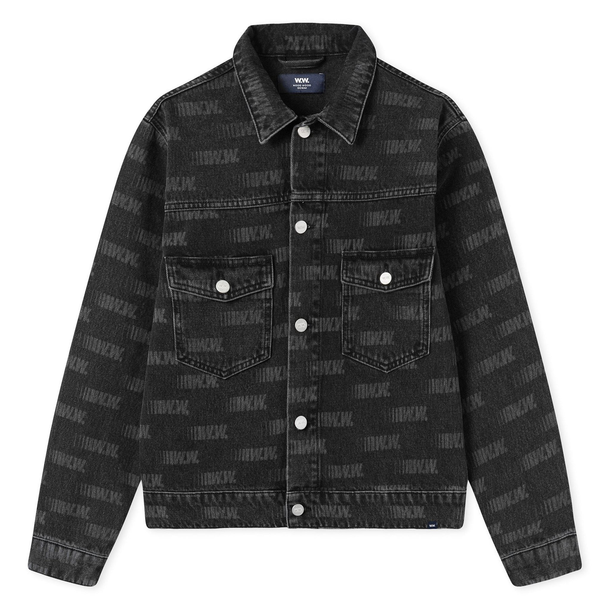 Wood Wood Cam Jacket Black All Over Print