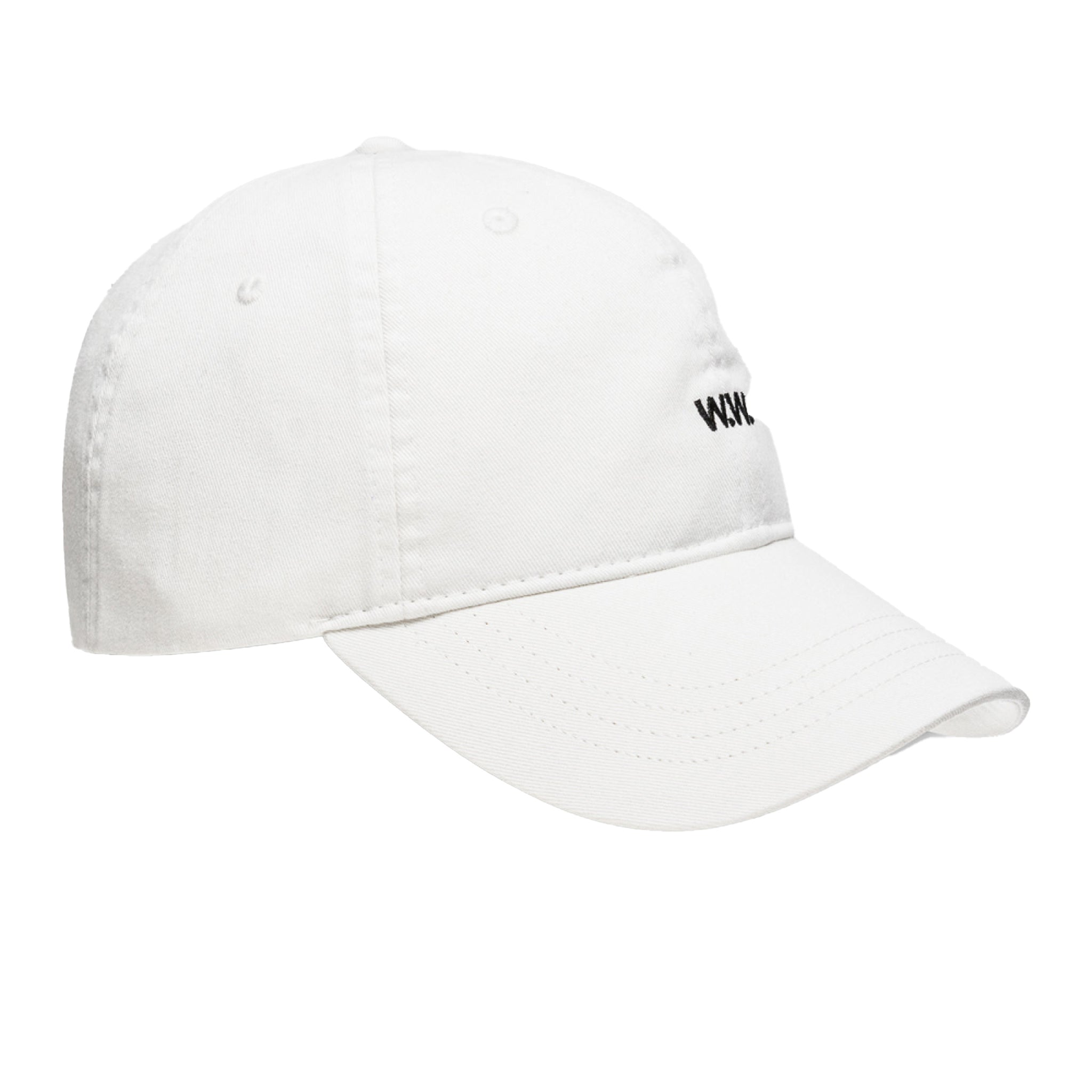 Wood Wood Low Profile Cap Off White