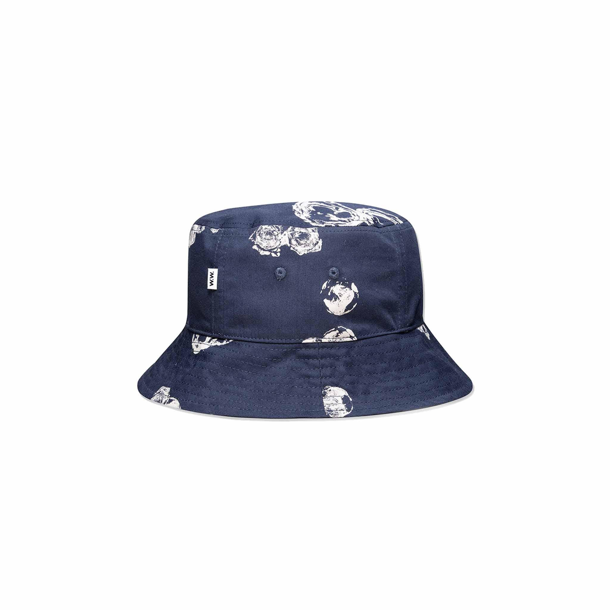 Wood Wood Graphic Bucket Hat Blue