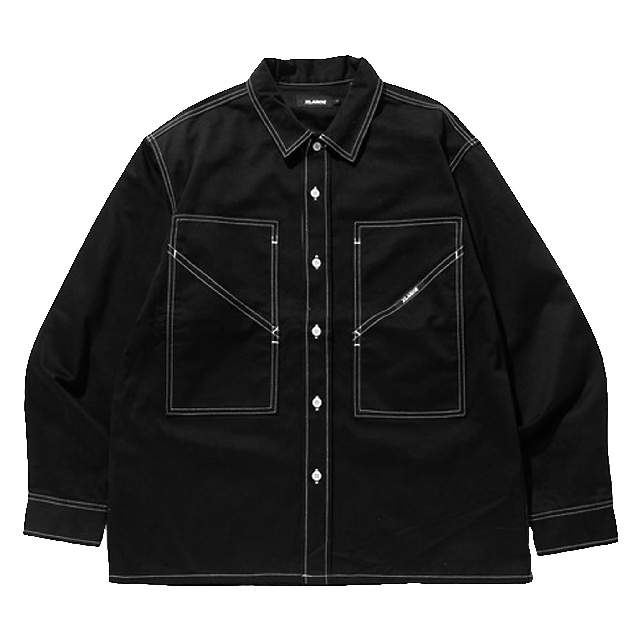 XLARGE Contrast Stitch Work Shirt Black