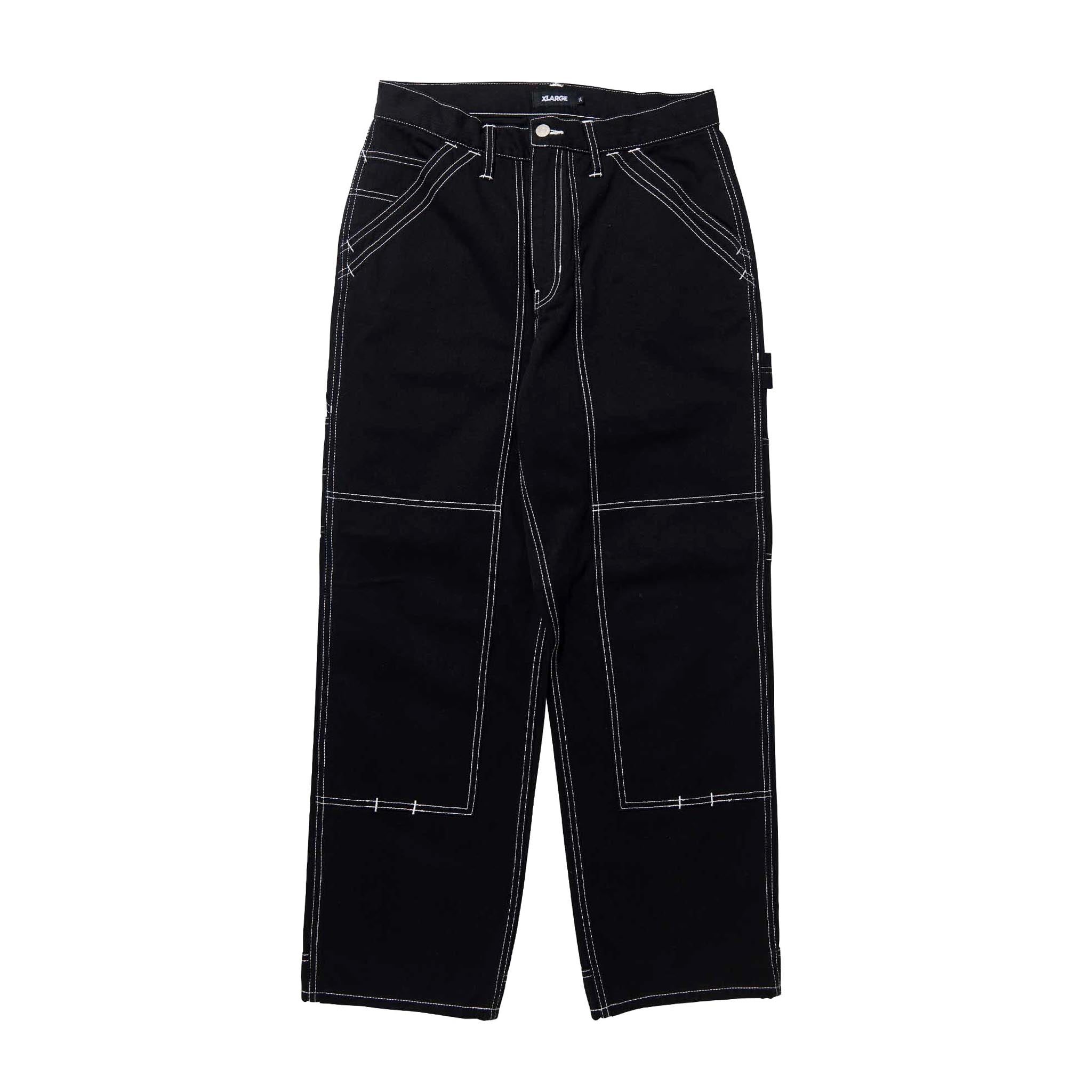 XLARGE Contrast Stitch Work Pants Black