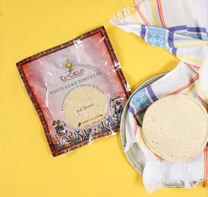 Tortillas - Full Flavour White Corn 14cm 10Pack - El Cielo