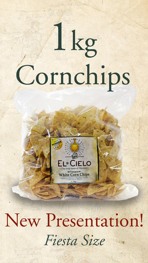 Large bag of White Corn Totopos (Mexican Corn Chips) sold online via El Cielo