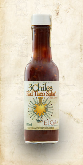 El Cielo Three Red Chilli Sauce 150ml - El Cielo