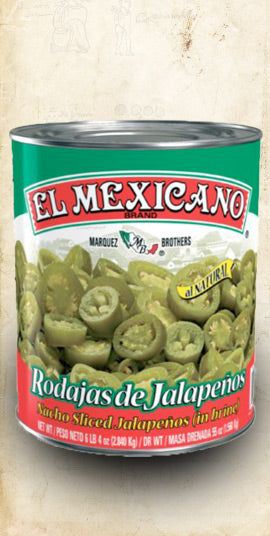 Jalapeño in Brine (Nachos Sliced/Round) 2.8kg (Wholesale) - El Cielo