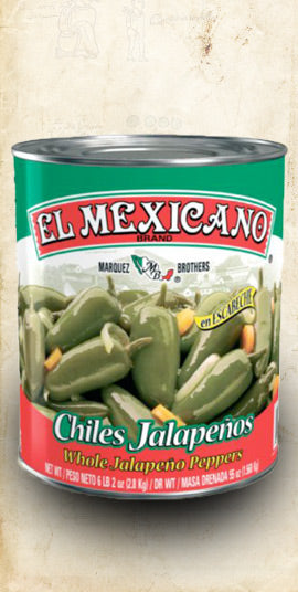 Jalapeño in Brine (Whole) 2.8kg (Wholesale) - El Cielo