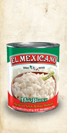 Large bag of Maiz Blanco Mexican white hominy sold online via El Cielo