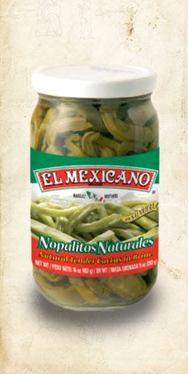 Jar of Mexican Nopales (Cactus Pads) sold online via El Cielo