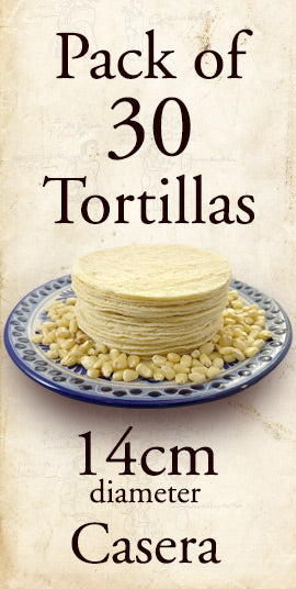 Tortillas - White Corn Casera 14cm 30 Pack