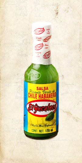 Bottle of Mexican green habanero sold online via El Cielo