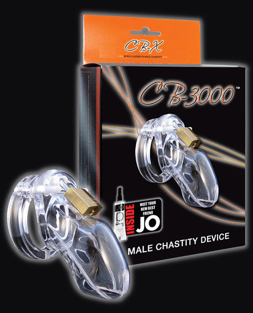 "3"" CB 3000 Chastity Cock Cage and Lock Set - Clear"