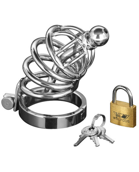 Small Master Series 4 Ring Locking Chastity Cage