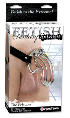 Fetish Fantasy Extreme The Prisoner Metal Cock Cage