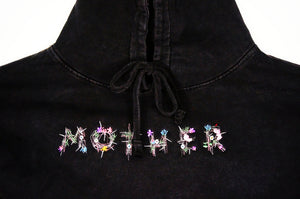 Embroidered Mother Logo Hoodie