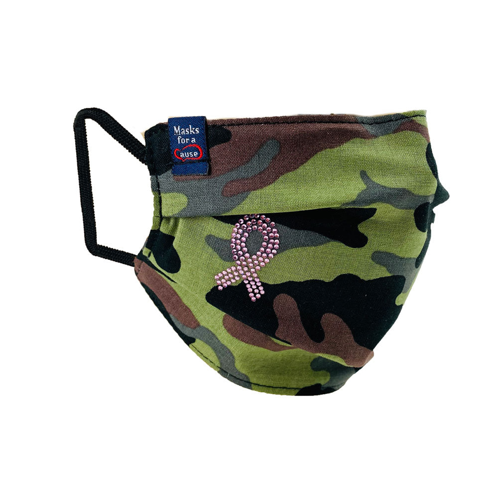Breast Cancer - Camouflage Mask