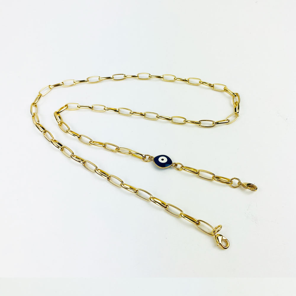 Evil Eye 🧿  - Classic Link Face Mask Chain Holder 25.5 Inch