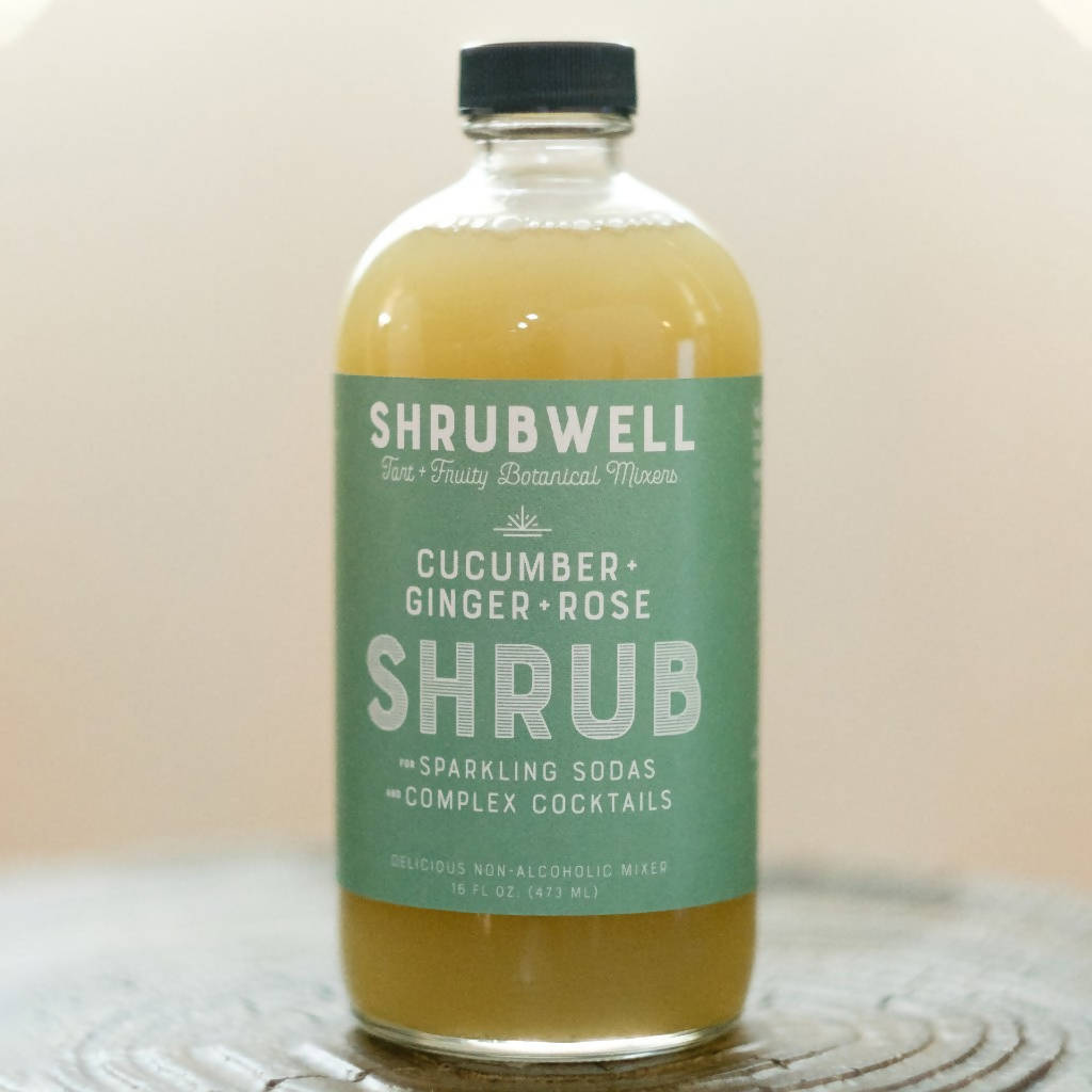Cucumber + Ginger + Rose Shrubwell Mixer