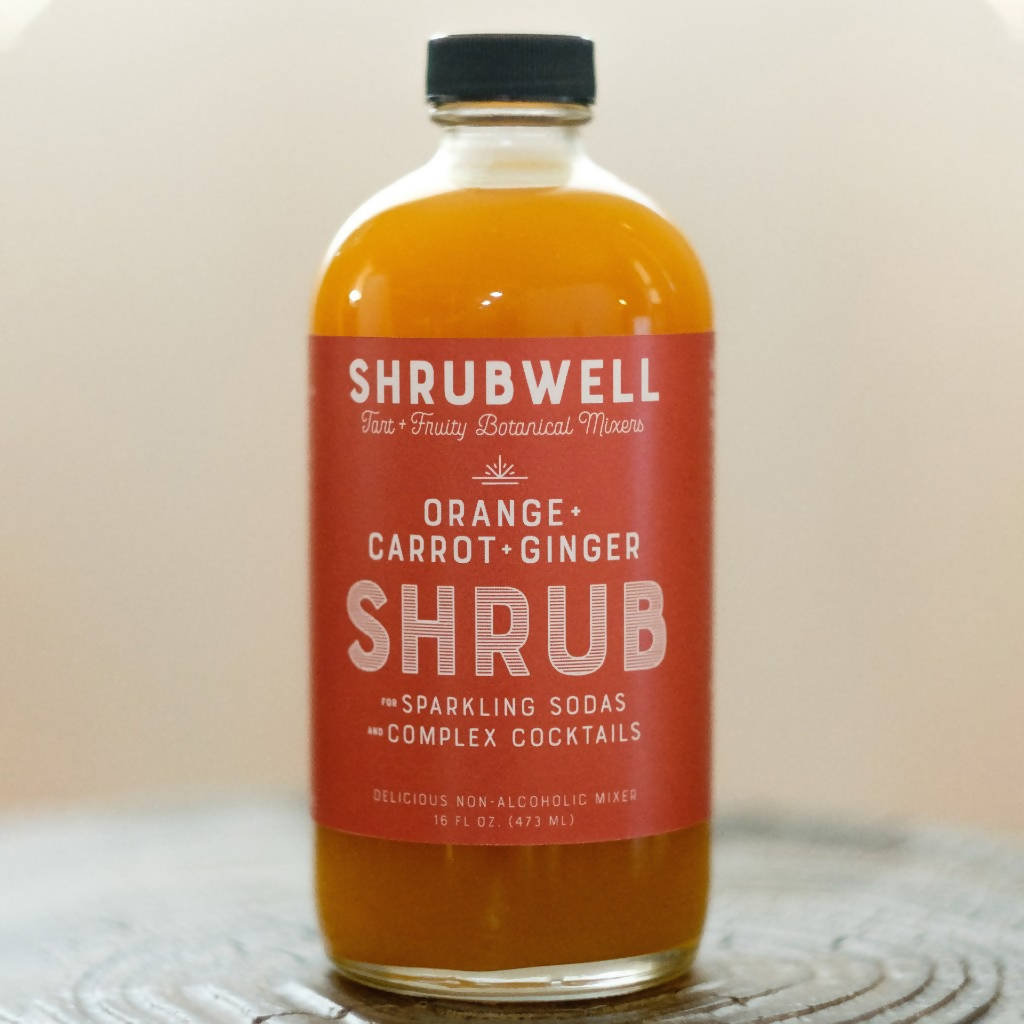 Orange + Carrot + Ginger Shrubwell Mixer