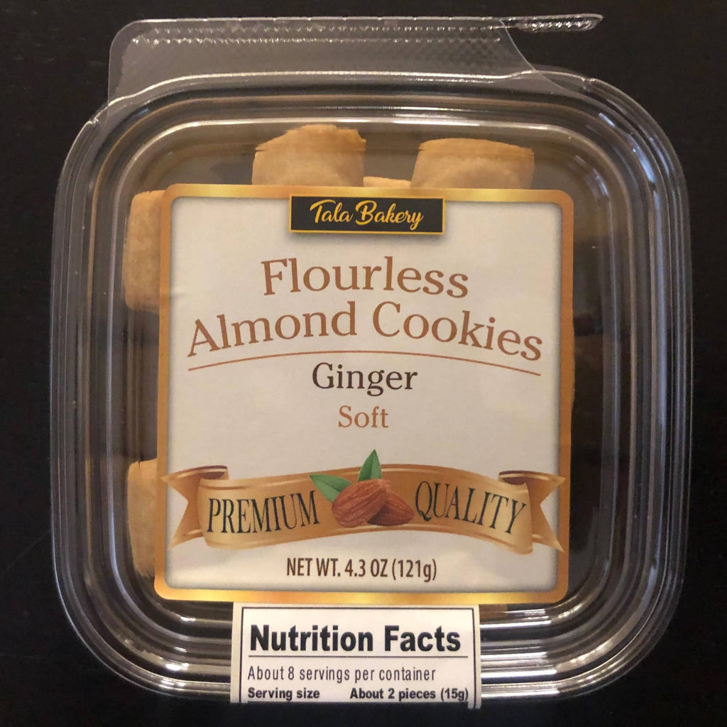 Ginger Flavored Flourless Almond Cookies