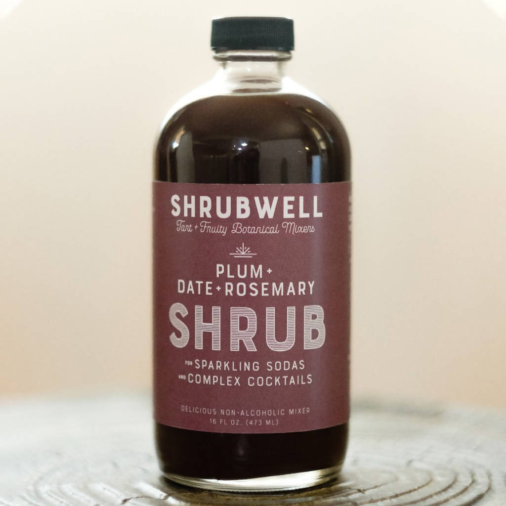Plum + Date Rosemary Shrubwell Mixer