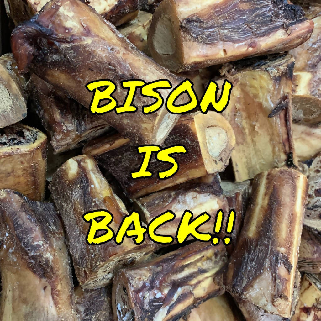 Fresh Smoked Bison Bones (5-Pack)