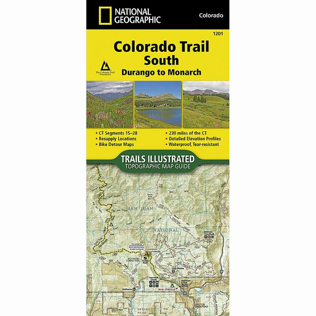 Colorado Trail South Map