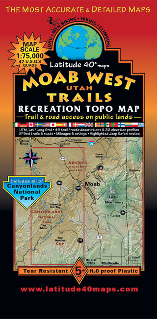 Moab West Trails Map