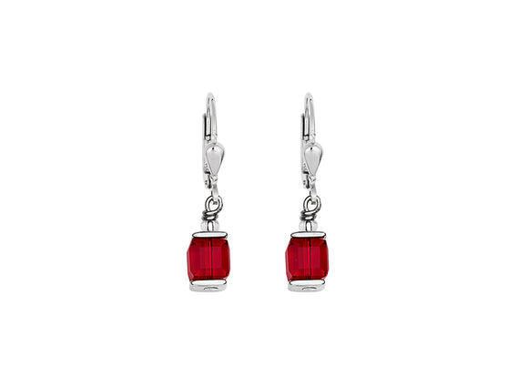 Coeur de Lion Swarovski Red/Silver Earrings