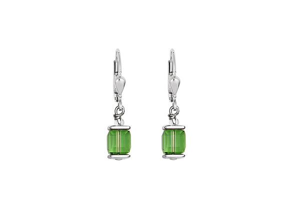 Coeur de Lion Swarovski Green/Silver Earrings