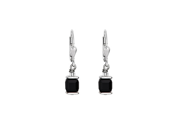 Coeur de Lion Swarovski Black/Silver Earrings