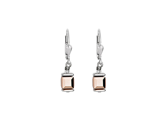 Coeur de Lion Swarovski Rose Gold/Silver Earrings
