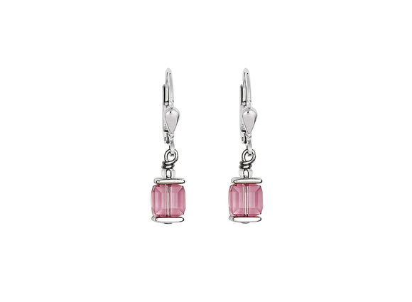 Coeur de Lion Swarovski Pink/Silver Earrings
