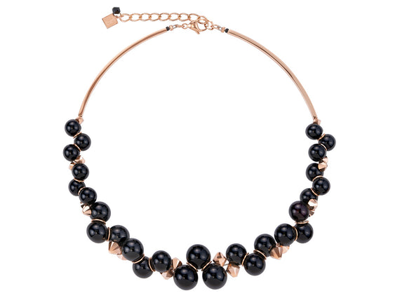Coeur de Lion Swarovski Black/Rose Gold Necklace