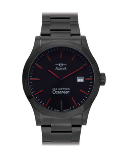 ADINA Gents Black Sports Watch