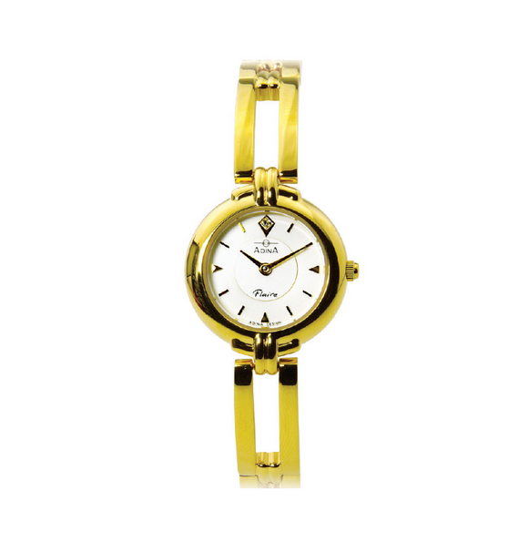 ADINA Ladies Flaire Gold Dress Watch