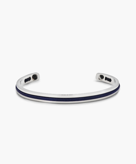 Pig & Hen Navarch Navy and Silver Cuff Bracelet