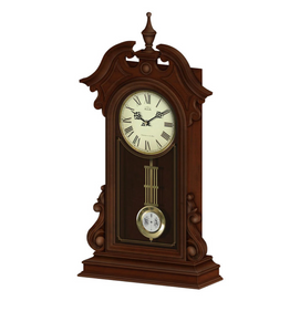 ADINA Mantle/Wall Chiming Wood Clock