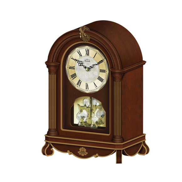 ADINA Wooden Feature Mantle Clock