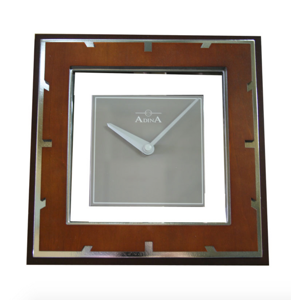 ADINA Wooden Square Clock