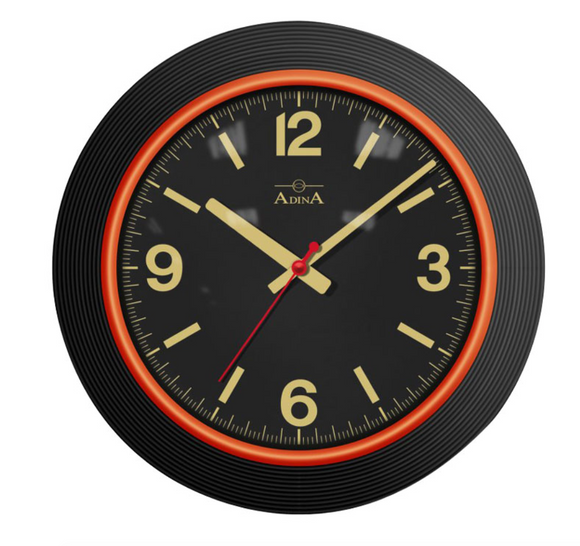 ADINA Black Wall Clock